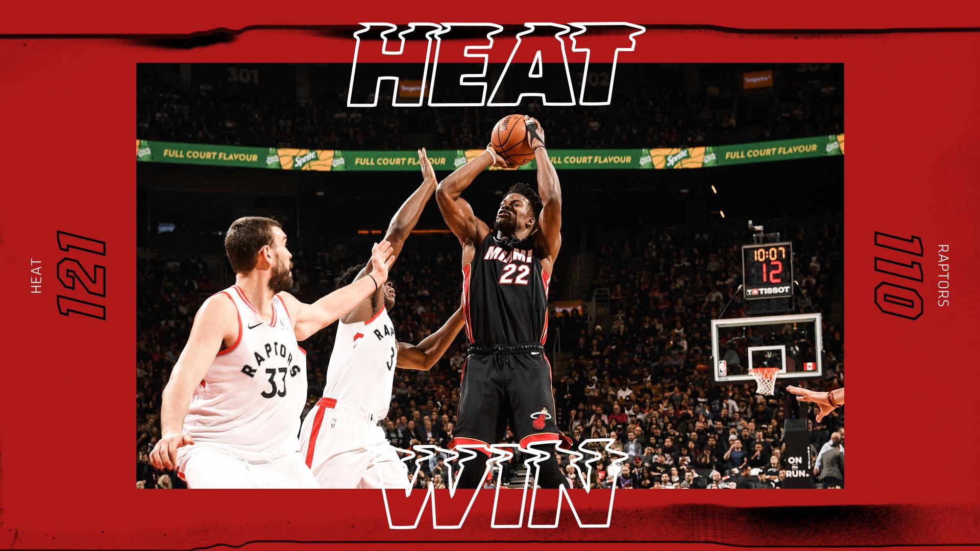Toronto Raptors 110-121 Miami Heat - Camisetas nba baratas